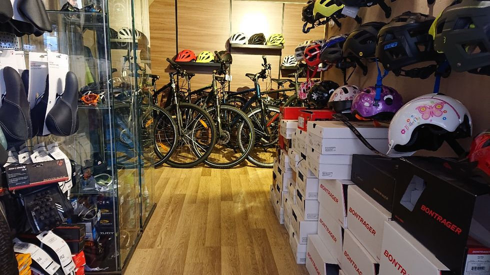 Q1 kerékpárszalon üzlet fotó
